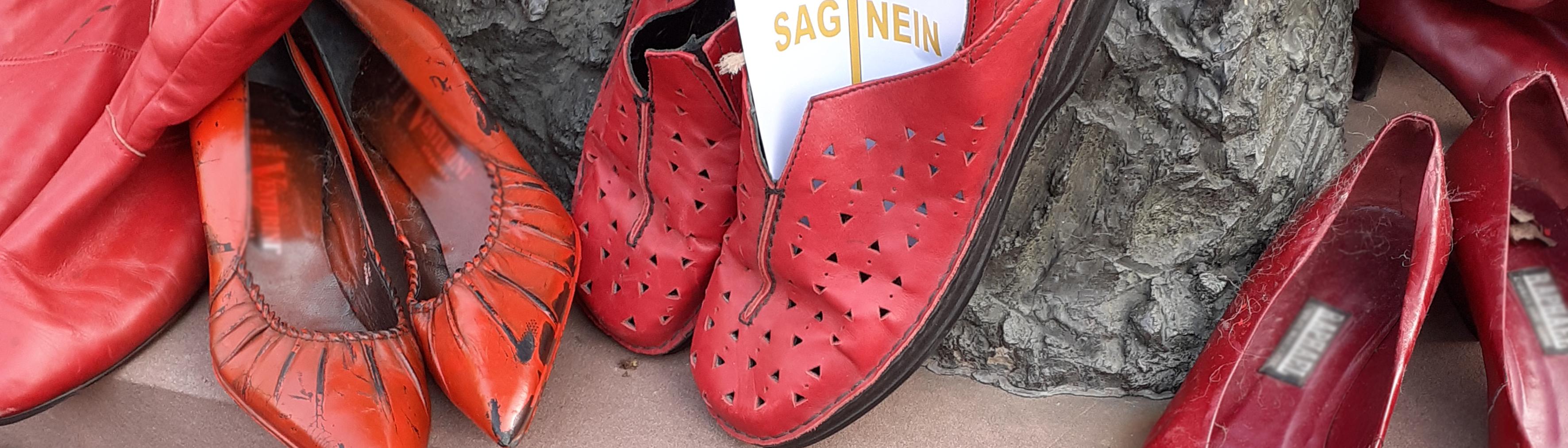 © Ruth Syren - Rote Schuh Aktion 2020, ZONTA Weinheim e.V.